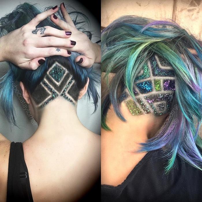 Блестки на волосах - тренд 2017 года