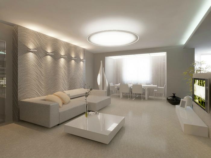 Правильное освещение увеличивает комнату