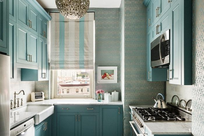 Кухня с П-образной планировкой подойдет для большой семьи