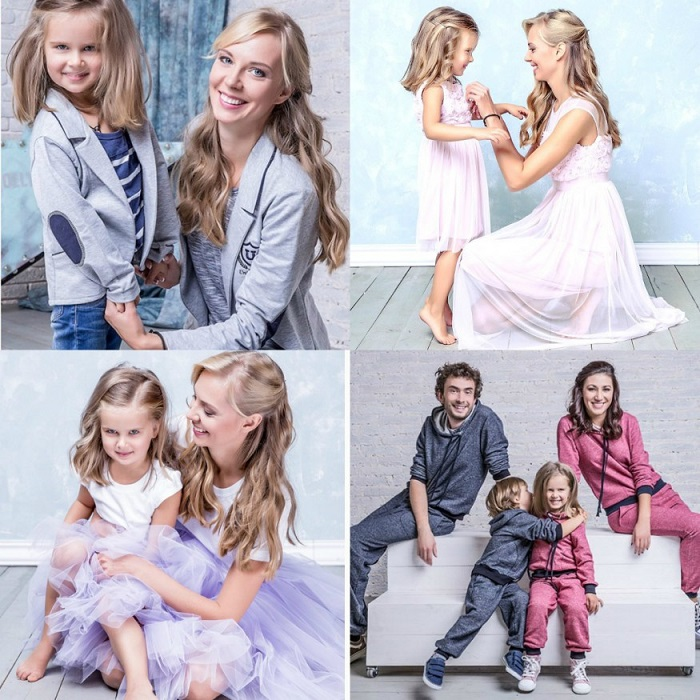 существует очень много вариантов того, как создать family look