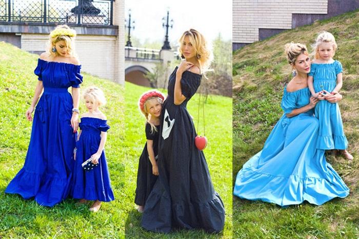 Одинаковые платья для мамы и дочки - идеальный вариант для family look