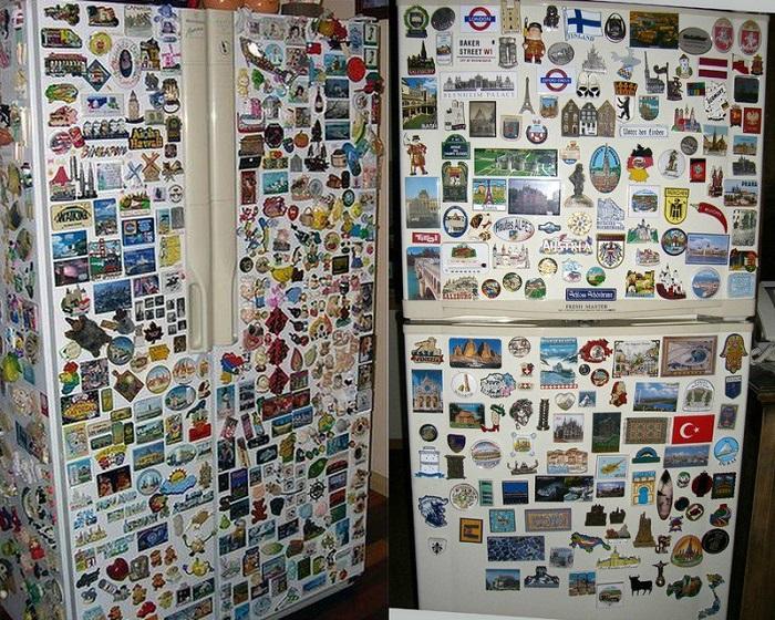 Магниты на холодильнике - лишняя деталь.