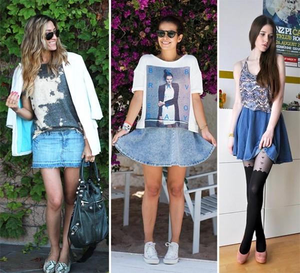Джинсовые мини-юбки подойдут для юных девушек