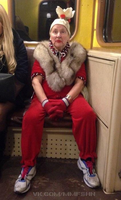 Ну очень модная бабуля