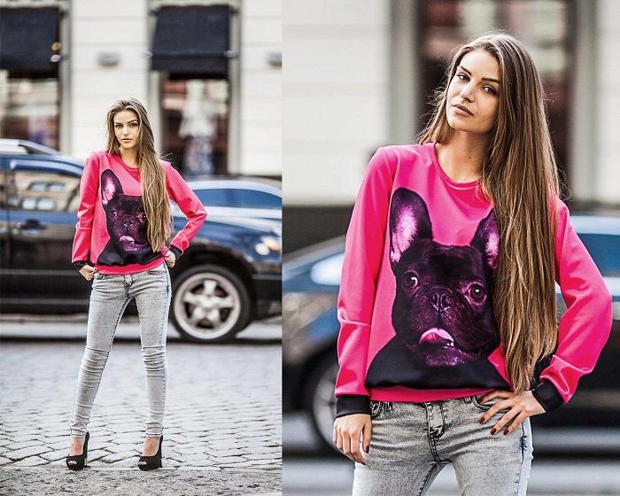 Свитшот - свитер свободного кроя