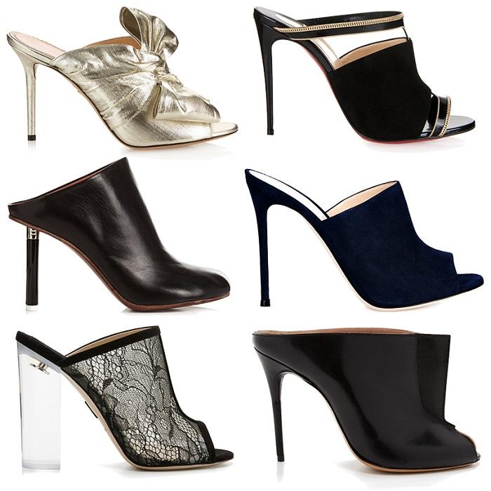 Мюли - женская обувь на каблуке с открытой пяткой