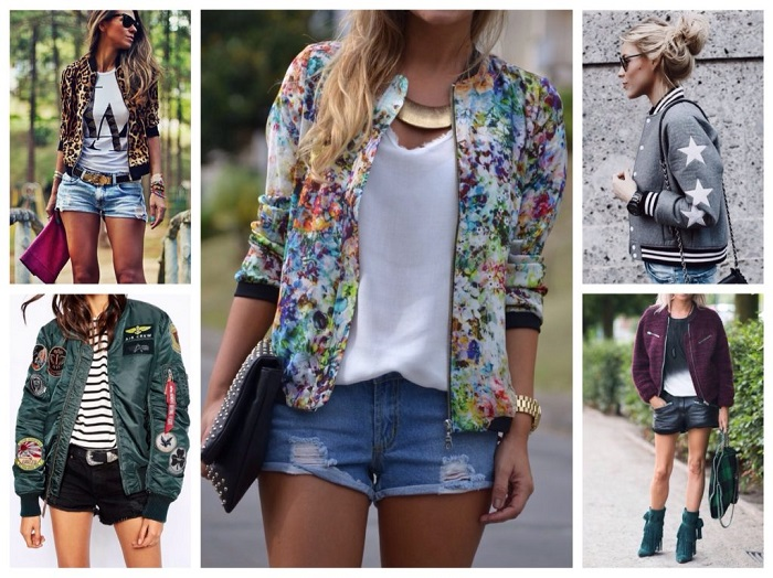 Бомбер - короткая летняя куртка