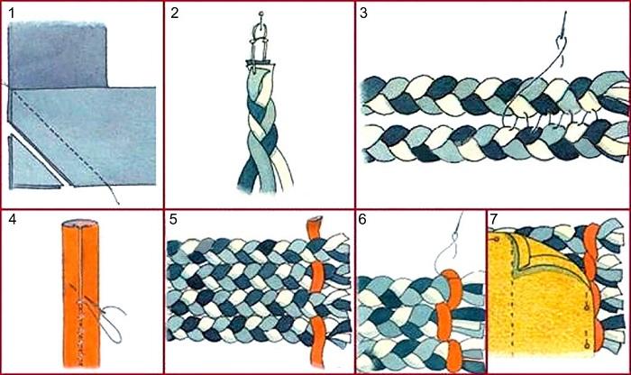 Плетеный коврик на пол очень легко сделать дома