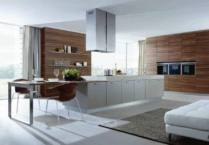 Кухня, совмещенная с гостиной - это очень удобно и современно
