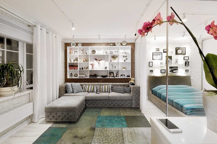 15 нестандартных решений планировки для однокомнатной квартиры