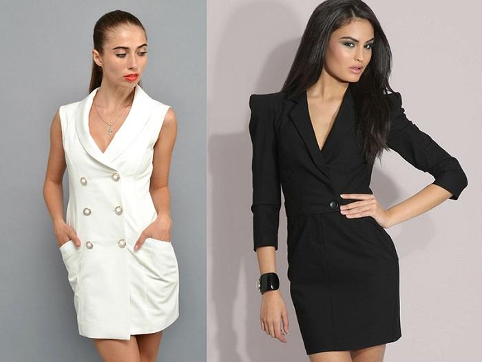 Жакет-платье - модная новинка сезона осень-зима 2017-2018