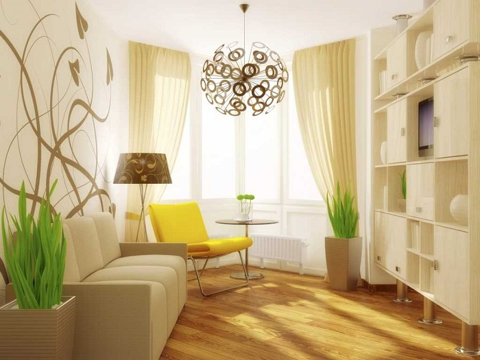 Бежевый цвет обезличивает интерьер квартиры