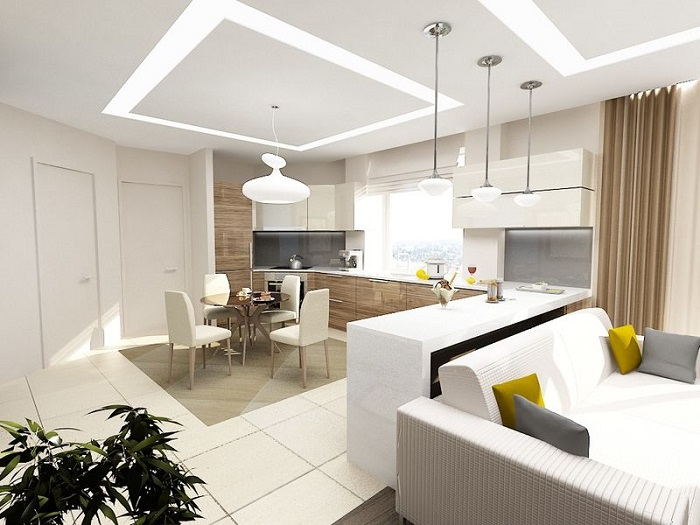 Неправильное освещение может испортить интерьер гостиной