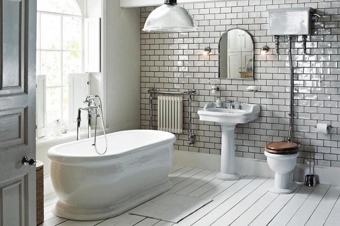 6 нестандартных отделочных материалов для ванных комнат