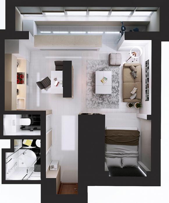 Квартира с отдельным спальным местом