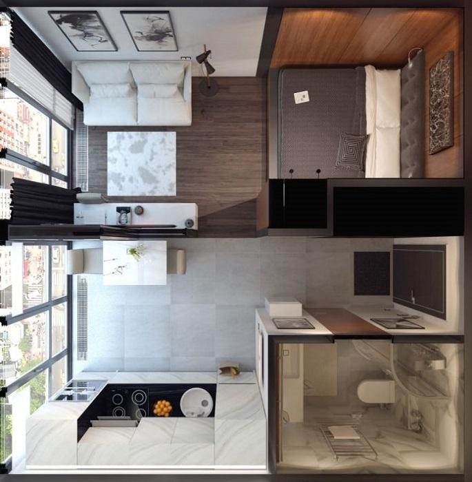 Квартира с двумя спальными местами и отдельной кухней