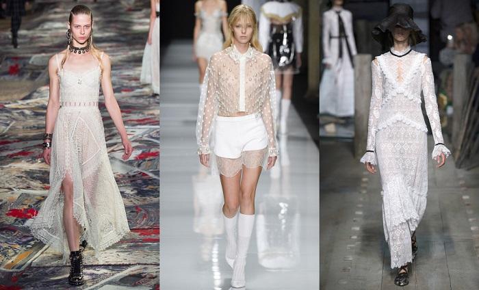 Полупрозрачные модели платьев могут быть очень нежными