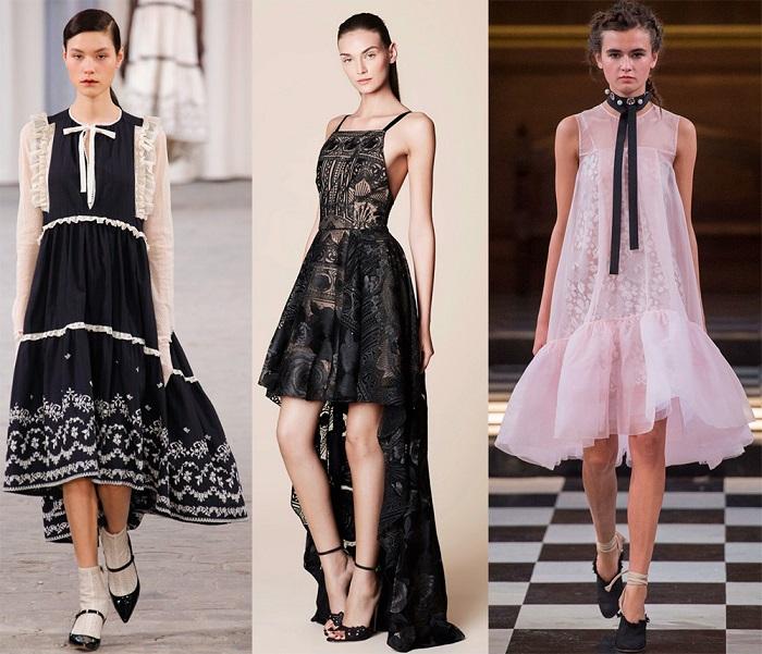 Платья-маллет подчеркнут женственность
