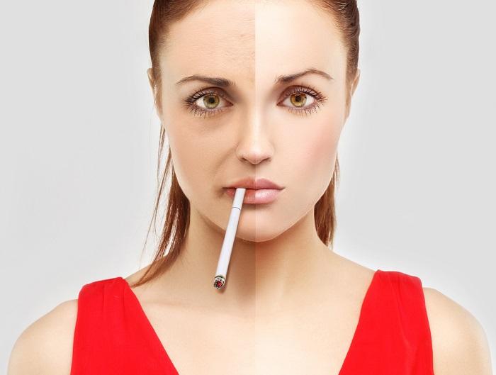 Из-за курения кожа теряет кислород, что приводит к возникновению морщин