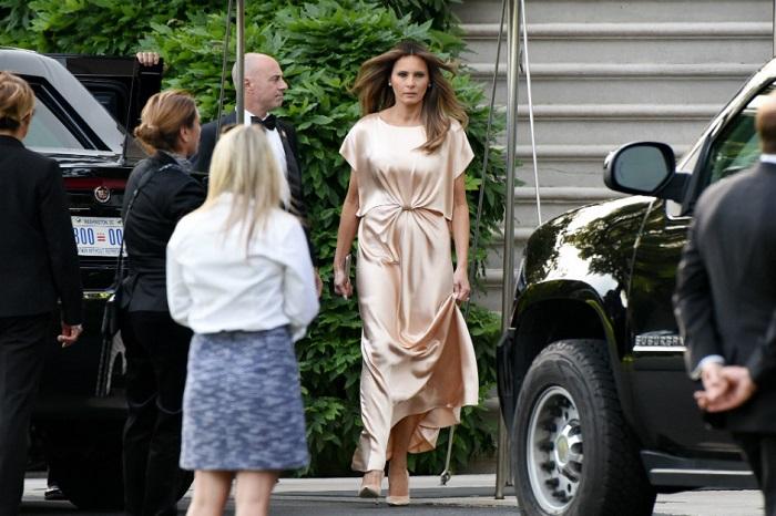 Мелания Трамп впервые попала в модный просак