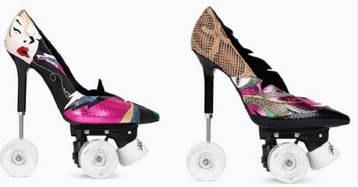 Модный Дом Saint Laurent презентовал туфли на колесах.