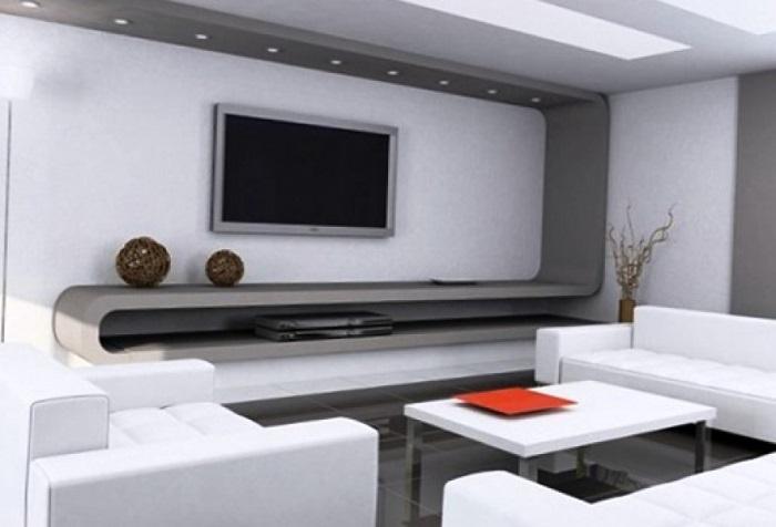 Важно спрятать провода от телевизора