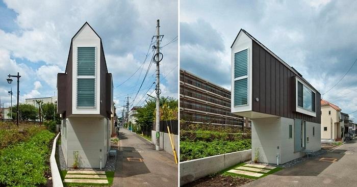 Невероятно узкий дом в Японии.