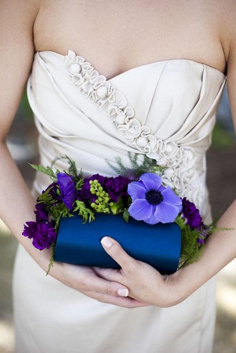 Свадебная сумочка синего цвета