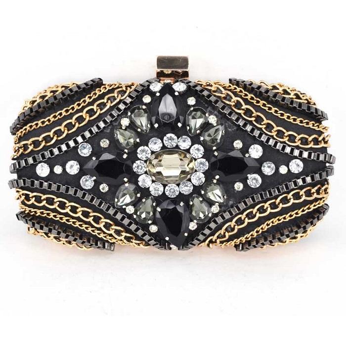 Свадебная сумочка, украшенная драгоценными камнями