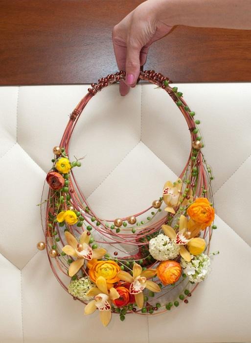 Свадебная Сумочка из цветов