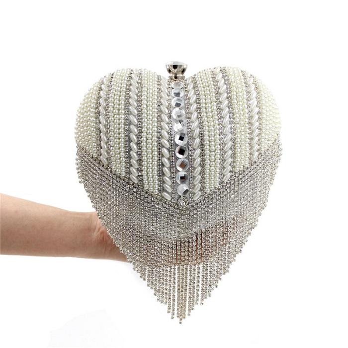 Свадебная сумочка в виде сердца