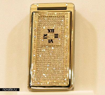 Алмазный телефон Softbank 823SH Tiffany