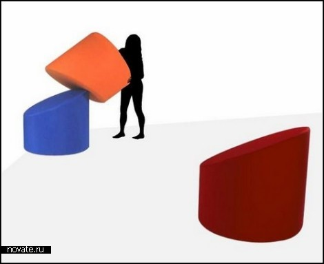 Кресла в *столбике*. Мебель от Джузеппе Раймонди (Giuseppe Raimondi)