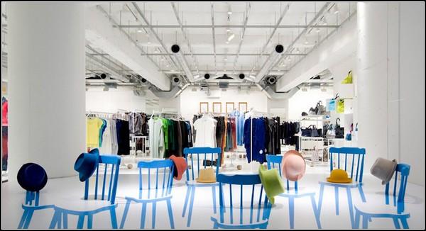 2D/3D Chairs, инсталляция в интерьере от Yoichi Yamamoto