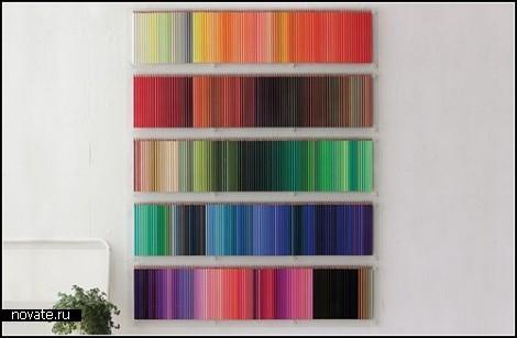 Цветные карандаши, или дизайнерское решение декора стен?