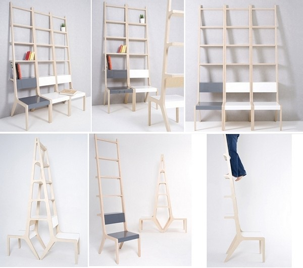 Objet B и Objet А, стулья со спинками-полочками от Seung-Yong Song