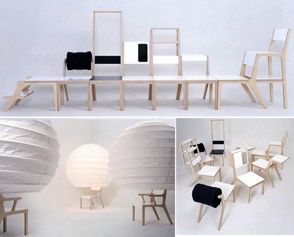 8objets, коллекция многофункциональных дизайнерских стульев от Seung-Yong Song