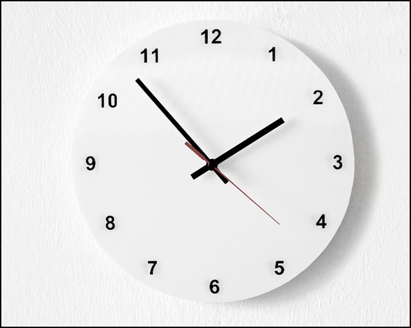 Настенные AM/PM Wall Clock, проект Studio Dreimann
