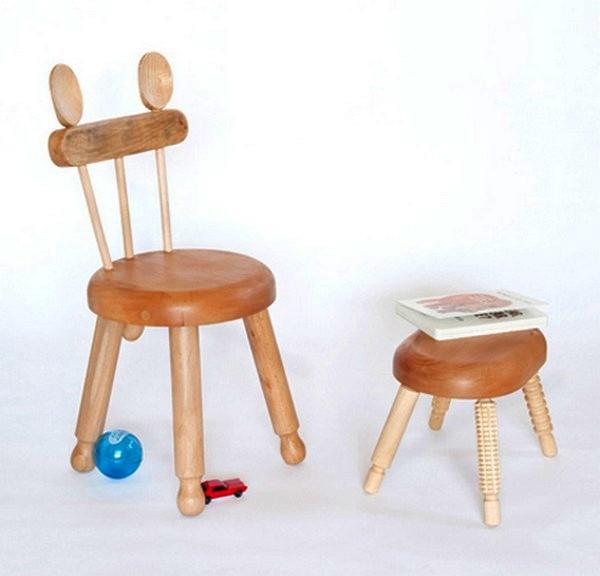 Детские стульчики Alba chairs из деревянной посуды