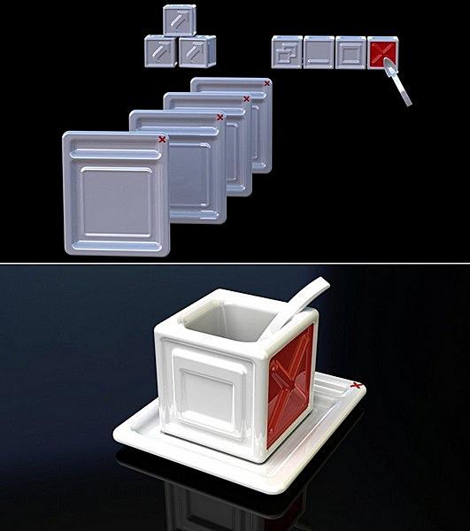Сервиз Coffee_Interface mugs, интернет-технологии в промышленном дизайне