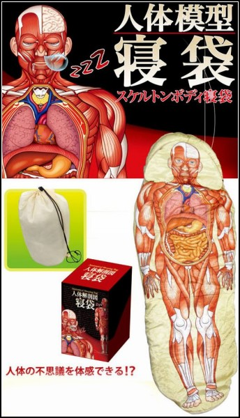 Anatomical Sleeping Bag, спальный мешок- или учебник по анатомии