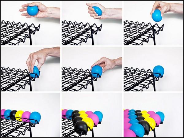 Стул AntiStress Chair из разноцветных мячиков