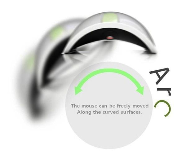 Arc Mouse, компьютерная мышь для работы на неровных поверхностях