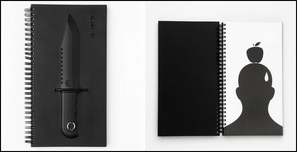 Armed Notebooks: один из блокнотов, вооруженный армейским ножом