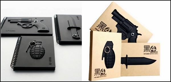 В такой упаковке блокноты Armed Notebooks встречаются со своими владельцами