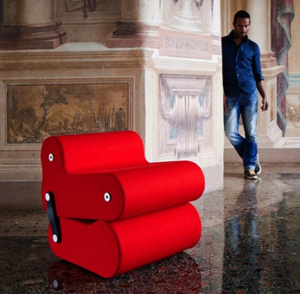 Multichair, кресло из двух подушек, которые можно менять местами