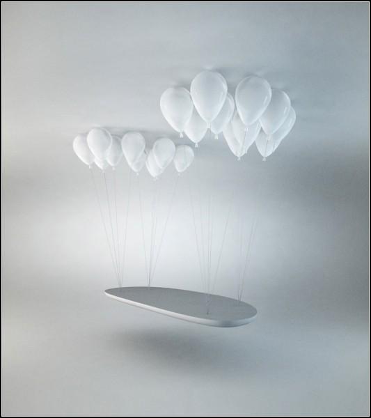 Balloon Bench. Скамейка, парящая под потолком