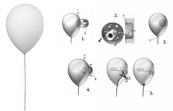 Оригинальный домашний светильник Balloon Lamp от Estiluz