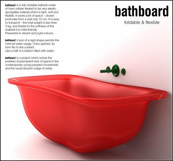 Плоская ванная Bathboard, которая сэкономит место в квартире