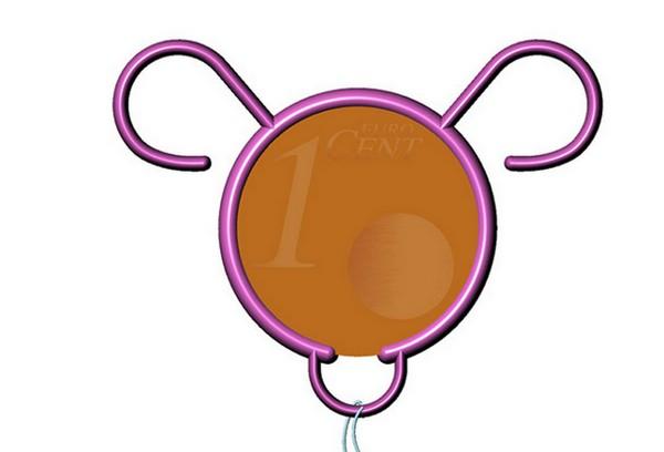 Bearina, концептуальный контрацептив для женщин из монеты в один цент
